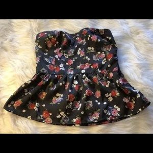 American Eagle Outfitters Womens Peplum Top